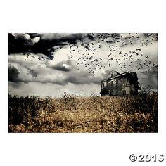 Haunted Farmhouse Backdrop Banner