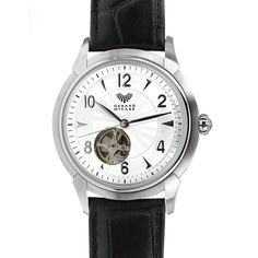 The Cadenza timepiece is a perfect choice for the man who likes to see how things tick. The 21 jewelled automatic movement can be seen through windows at the front and back of this stylish watch. The comfortable leather band completes the look for a reliable, everyday timepiece. This watch is backed by the Gerard McCabe 3 year warranty.