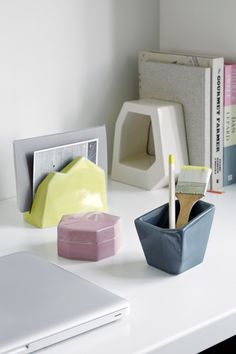 Officina Letter Stand, Storage Jar, Pencil Holder and Book Stand