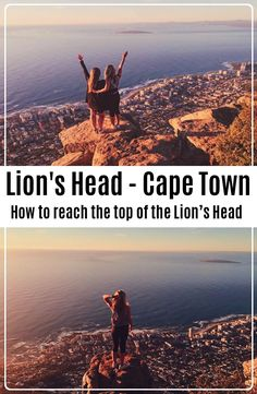 Lion's Head is a mountain in Cape Town, South Africa and hard not to see while being there. How to reach the top of the Lion's Head. Lions Head Cape Town, Cape Town South Africa, Backpacking, Backpacker, Travel Backpack