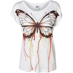 Vero Moda Tanja Butterfly Lace S/S Top ($18) ❤ liked on Polyvore featuring tops, t-shirts, blusas, t shirt, white swan, short sleeve tee, lace top, loose fitting t shirts, loose white t shirt and loose t shirt