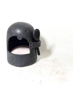 Ceramic Salt Monster Salt Cellar Pete Salt Container Choose Your Color Sculpture Foodie Fun Unique Kitchen Ware MADE TO ORDER