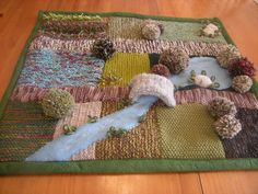 The Knitted Garden: Whew! It's Hard Work on the Crafting Farm
