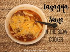 Lasagna Soup is an amazing Crockpot Freezer Meal! Try the recipe for yourself to see what I mean!