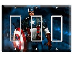 super hero the first avenger Captain America triple by DecorLounge
