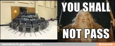 You shall not pass... / iFunny :)