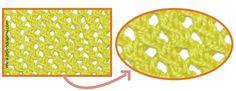 punto líneas oblicuas caladas en dos agujas o palillos