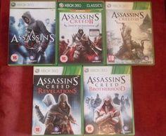 xbox 360 Assassin's Creed 5-game bundle: AC II GOTY, III Revelations Brotherhood