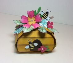 Curvy keepsake box beehive  bee flowers by Kristi L Gray isn't this just the most amazing and cute curvy keepsake idea ever