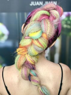 #mermaid #unicorn #colors #pastel #braided #hair #yourbeautymasters @1concept @jbeverlyhills