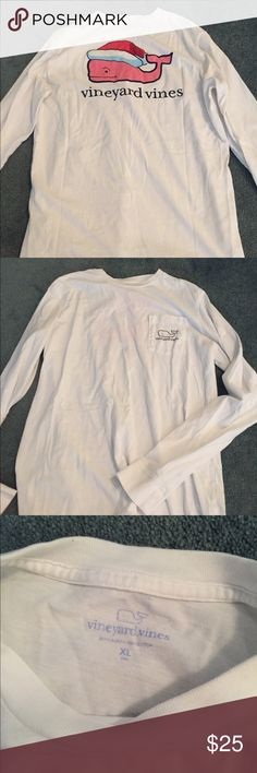 vineyard vines santa whale long sleeve shirt boys size xl, fits like a womans small/medium. in brand new condition Vineyard Vines Tops