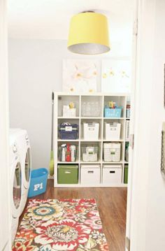 taking chance a hall as laundry room