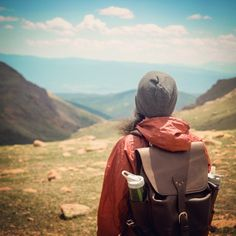 Tim's beard in the wind near the summit of Pike's Peak. | Saddleback Leather Co. | Simple Backpack | 100 Year Warranty | $458.00 - $558.00