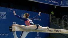 Gymnast Veronika Cenkova on beam Gymnastics Videos, Balance Beam, Nescafe, Routine, Wrestling, Sports, Lucha Libre, Hs Sports, Sport