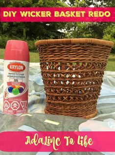 Freshen up any old wicker home decor with a fresh coat of paint. DIY Wicker Basket Upcycle #diyproject #upcycle #reuse #recycle #diy #homedecor #homeorganization #wickerprojects