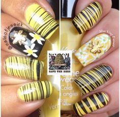 Save the Bess Bestie Twin Mani Sassy Nails, Love Nails, My Nails, Creative Nail Designs, Creative Nails, Nail Polish Designs, Nail Art Designs, Water Marble Nail Art, Marble Nails