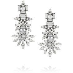 DANNIJO Everly oxidized silver Swarovski crystal earrings