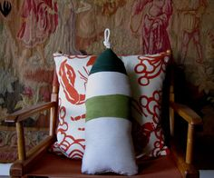 Maine Lobster Buoy Pillow yellow04951stpatricks by CobaltSkyStudio, $25.00