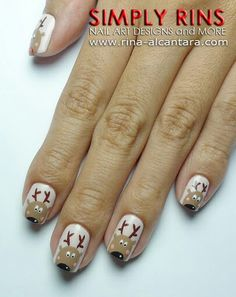 Reindeer Nails. love these so much, wish i could really do them!