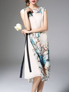 Shop Midi Dresses - Sleeveless Reversible Casual Midi Dress online. Discover unique designers fashion at StyleWe.com.