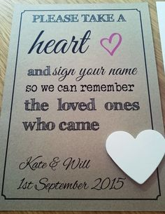 Wedding Personalised Guest Book Drop Box Instructions Vintage Sign & Hearts in Home, Furniture & DIY, Wedding Supplies, Other Wedding Supplies | eBay