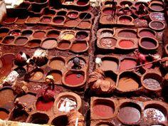 Hay quien lo llama fotografía: Curtidores en Fez