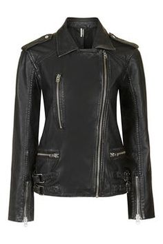 tall oversized leather jacket