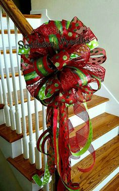 Check out this item in my Etsy shop https://www.etsy.com/listing/453579162/christmas-tree-topper-tree-bow-large-red