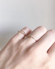 Knot Line | 14k gold ring | AGATA BIELEŃ