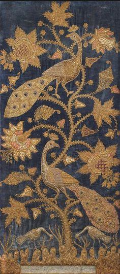 silkvelvetnight:  Blue velvet, c. 1900. India.
