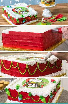 just in time for the holidays learn to make this peanuts christmas cake