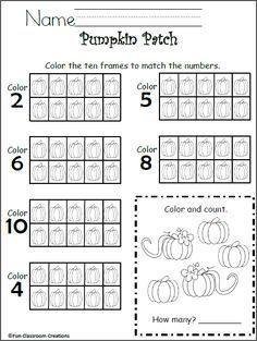 Free 10 Frames Math Worksheet - Kindergarten