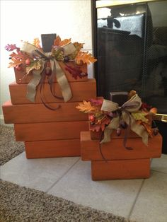 Fall Wood Pumpkins