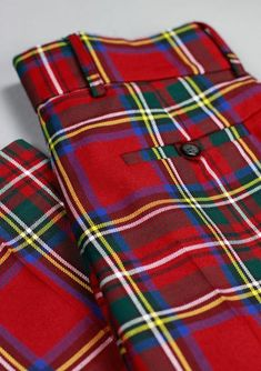 High waisted with a slim fit leg, our Kilt Society Essential Trews are a modern classic. Tartan Pants, Tartan Plaid, Plaid Fashion, Mens Fashion, Latex Fashion, Gothic Fashion, Boho Fashion, Fashion Tips, Kilt Shop