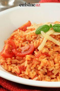 Une recette de risotto aux tomates cerises et parmesan vous permettra une escapade en Italie. #recette#cuisine#risotto#tomate #parmesan Escapade, Parmesan, Rice, Cherry Tomatoes, Italy, Meal, Parmigiano Reggiano