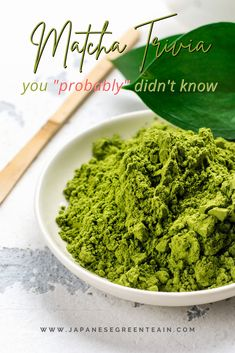 In this article, I will cover 25 Matcha Trivia Facts you may not have known. This is part of a chapter from my recent book: Green Tea Mania : 250+ Green Tea Facts, Tips & Trivia You (Probably) Didn't Know. Enjoy! #greenteamania #JapaneseGreenTeaCo #matcha Tea Facts, Trivia Facts, Tea Plant, Green Tea Recipes, Green Tea Powder, Matcha, Book, Cover, Ethnic Recipes