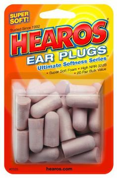 foam ear plugs - http://www.cirrushealthcare.co.uk