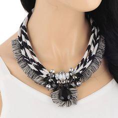 CMD by Mirna - Tassel Decorated Multilayer Design statement fashion necklace US$ 12