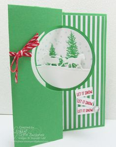1st Christmas Card of the year: NEW Sleigh Ride Circle Flip-Fold Thinlets