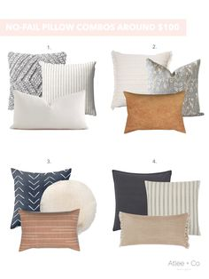 The Guide to NO-FAIL Pillow Combinations! — ATLEE + CO