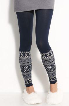 Make + Model Seamless Fair Isle Leggings Winter Leggings, Cute Leggings, Tight Leggings, Leggings Style, Navy Leggings, Christmas Leggings, Legging Outfits, Passion For Fashion, Autumn Winter Fashion