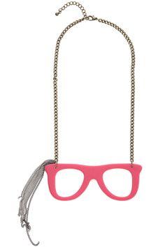 ROMWE | Glasses Pendant Draped Chains Necklace, The Latest Street Fashion #ROMWE