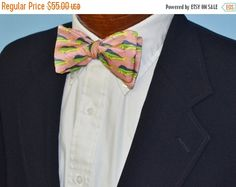 FLASH SALE Mt. Pleasant Mahi Silk Bow Tie on a Silk by BarryBeaux