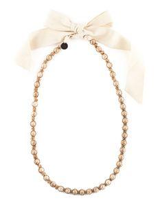 Lanvin - PEARLS AND RAFFIA NECKLACE - Jewelry - Women