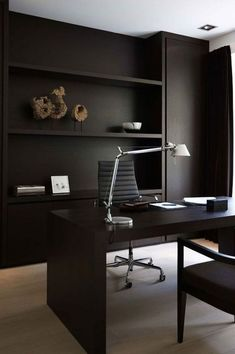 Best Modern Home Office Chair. These Are The 5 Best Desk Chairs For Your Home Or Office . Small Home Office Design With Sleek Shelves In White And A . Home Design Ideas Design Studio Office, Modern Office Design, Office Interior Design, Office Interiors, Office Designs, Modern Decor, Modern Home Offices, Black Interiors, Modern Lamps