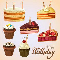 Various Birthday Cake Set 24th Birthday Cake, Happy Birthday Theme, Birthday Party Background, Birthday Icon, Birthday Pins, Happy Birthday Greeting Card, Happy Birthday Messages, Birthday Cupcakes, Birthday Wishes