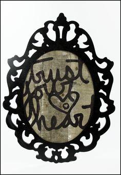 Trust Your Heart Altered Frame - Scrapbook.com
