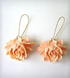 Rose Earrings - Peach | Women's Jewelry