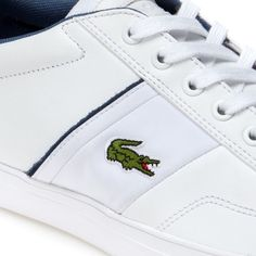 You can stroll or make a run for it in these sporty low-rise trainers in premium leather. Pair their white outsole with denims. There's no stopping you now! Leather Trainers, Lacoste, Sporty, Pairs, Running, Denim, How To Make, Zapatos, Keep Running