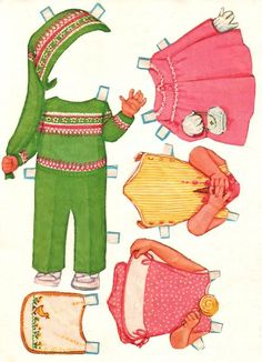 Beth Ann Paper Dolls by Kathy Lawrence - Whitman Publishing Co., 1970: Various Outfits